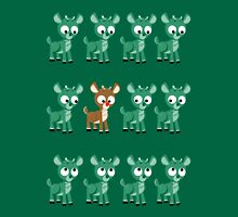 LOOK! It's Rudolph! v2(Green) Womens Fitted T-Shirt