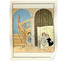 The Glad Year Round for Boys and Girls by Almira George Plympton and Kate Greenaway 1882 0061 Listening Poster