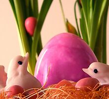 Easter in the Nest by LeftHandPrints