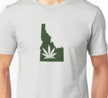 Marijuana Leaf Idaho Unisex T-Shirt