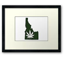 Marijuana Leaf Idaho Framed Print