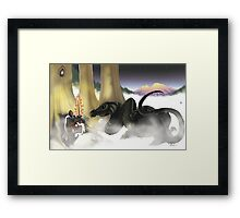 Mystical Riverbed colorized Framed Print