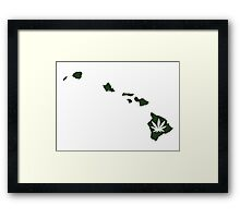 Marijuana Leaf Hawaii Framed Print