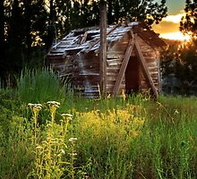 Old Cabin At Sunset by James Eddy
