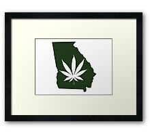 Marijuana Leaf Georgia Framed Print