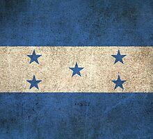 Old and Worn Distressed Vintage Flag of Honduras by Jeff Bartels