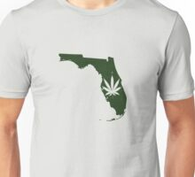 Marijuana Leaf Florida Unisex T-Shirt