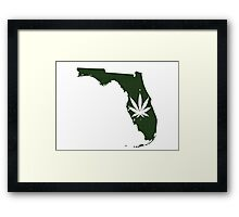 Marijuana Leaf Florida Framed Print