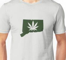 Marijuana Leaf Connecticut Unisex T-Shirt