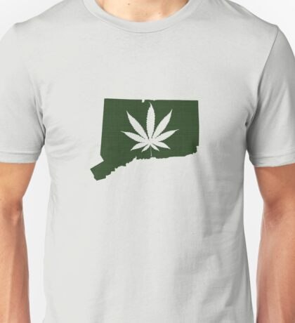 Marijuana Leaf Connecticut Unisex T-Shirt