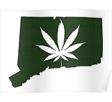 Marijuana Leaf Connecticut Poster