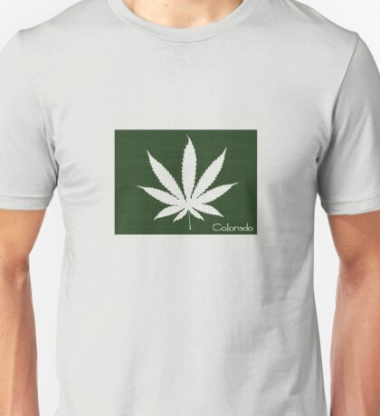 Marijuana Leaf Colorado Unisex T-Shirt