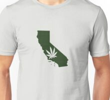 Marijuana Leaf California Unisex T-Shirt