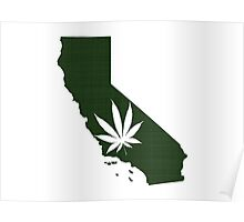 Marijuana Leaf California Poster