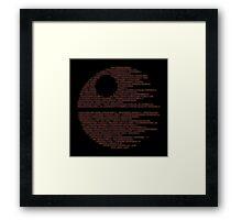 Dark Symbols Framed Print