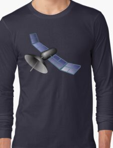 Satellite Illustration Long Sleeve T-Shirt