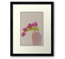 Tulips And Lace Framed Print