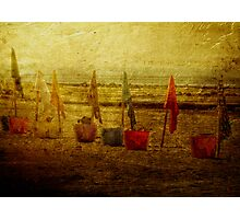 Flags and Buckets Photographic Print