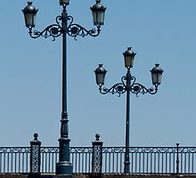 Lamps on the Triana Bridge, Seville by Mortimer123