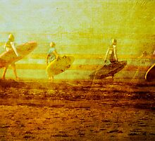 Surf Lifesaving Girls by © Helen Chierego