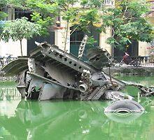 Vietnam Textures: B52 in lake in Hanoi by concreteandrust
