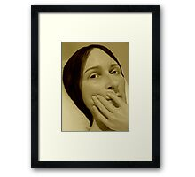 Sad Framed Print