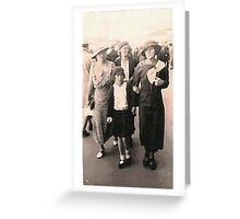 Stepping out at the shops - circa 1934 Greeting Card