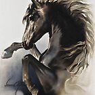 """Black Fury"" Painting in Oils by Sara Moon"