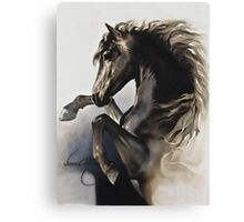"""Black Fury"" Painting in Oils Canvas Print"