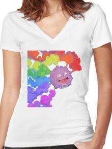 Koffing supports equality Women's Fitted V-Neck T-Shirt