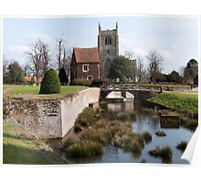 Tattershall Gatehouse and church Poster