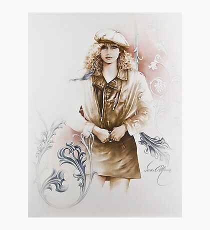 """""""German Girl"""" Painting in Oils Photographic Print"""