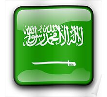Saudi Arabian Flag, Saudi Arabia Icon Poster