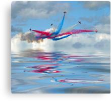 The Red Arrows - Five Four Split Canvas Print