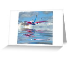 The Red Arrows - Five Four Split Greeting Card