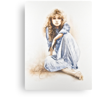 """""""Hippy Girl"""" Painting in Oils Canvas Print"""