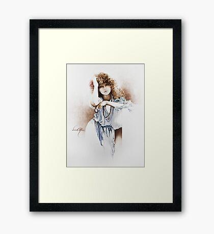 """""""Lovely Hippy"""" Painting in Oils Framed Print"""