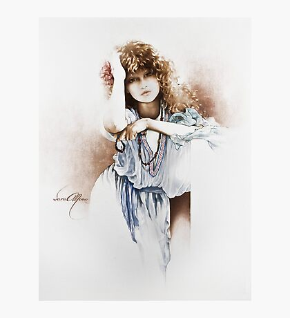 """""""Lovely Hippy"""" Painting in Oils Photographic Print"""