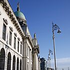 Custom House Quay in Dublin, Ireland by Joe  Burns