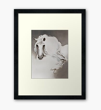 """""""The Queen"""" Painting in Oils Framed Print"""