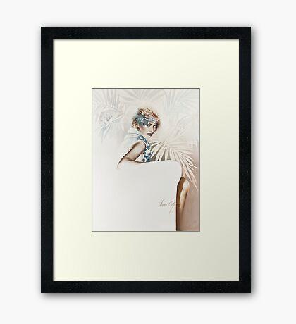 """Smile"" Painting in Oils Framed Print"