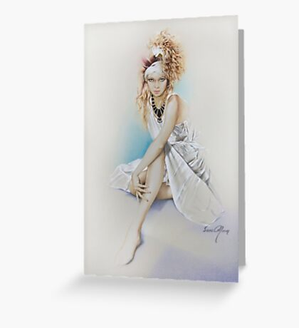 """""""Silvie"""" Painting in Oils Greeting Card"""