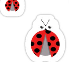lady bug 2 Sticker