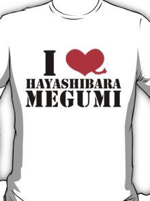 I Heart Hayashibara Megumi - Pigtail White T-Shirt