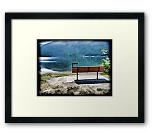 Bench By The Lake Framed Print