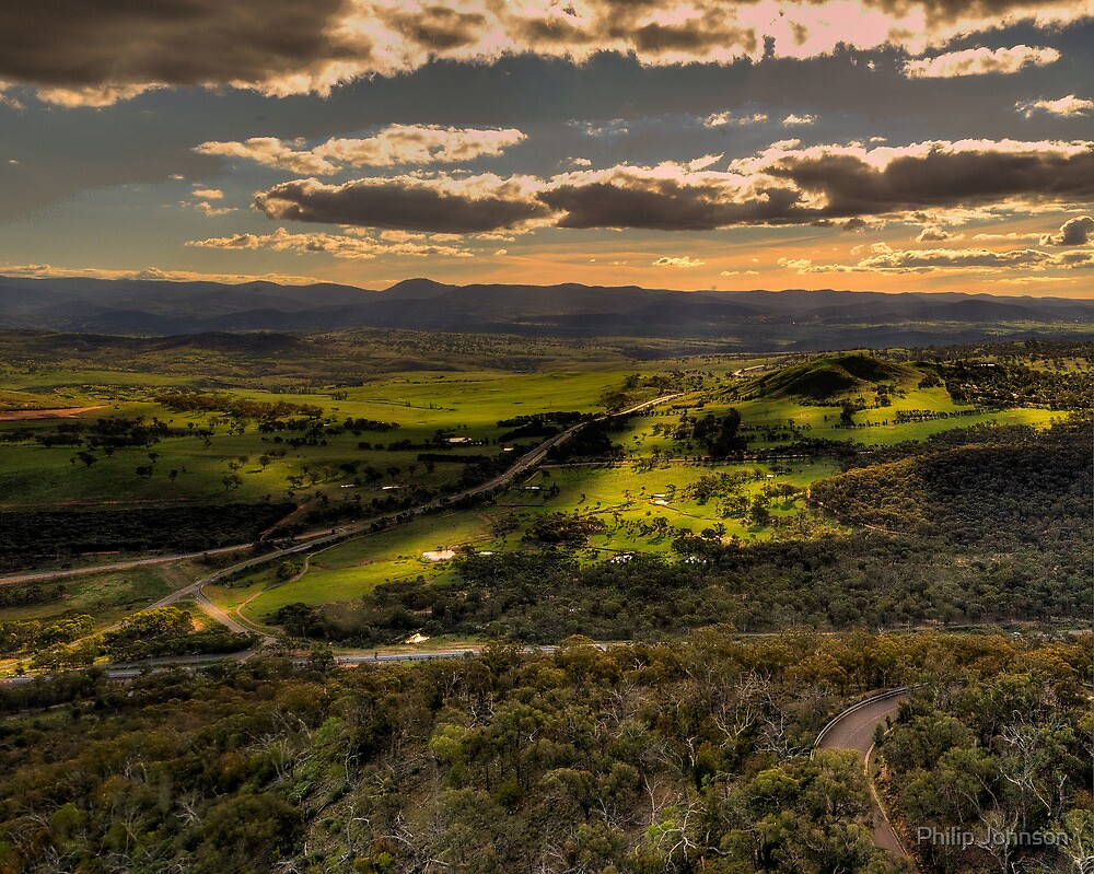 On High -  Telstra Tower , Black Mountain Canberra- The HDR Experience by Philip Johnson