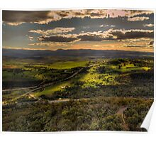 On High -  Telstra Tower , Black Mountain Canberra- The HDR Experience Poster
