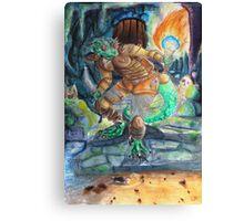 Elder Scrolls Oblivion: Argonian in the Cave Canvas Print
