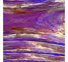 Purple Sunset in Layers Photographic Print