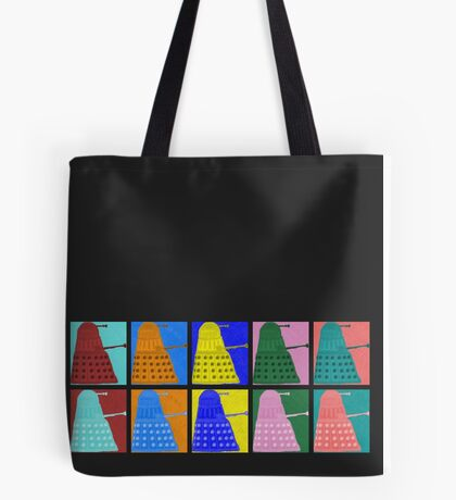 Pop art Daleks - variant 1 Tote Bag